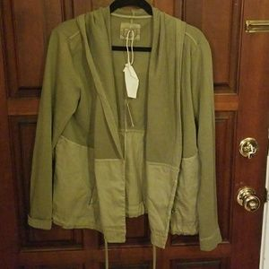 NWT Anthropology Green Hoodie Sweater
